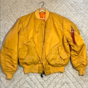 Alpha Industries MA-1 Mens Bomber Golden Yellow